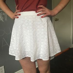 White lacy skirt